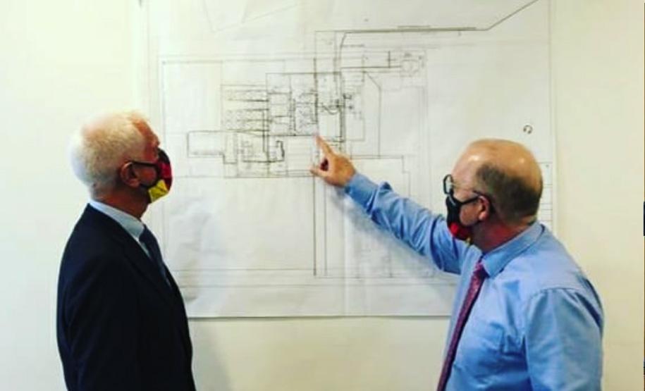 Briefing to German Ambassador on the progress of Umm Al-Hayman Project